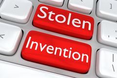 Stolen Invention concept Stock Image