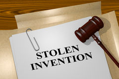 Stolen Invention - legal concept Royalty Free Stock Image