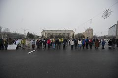 STOLEN JUSTICE - International Protest. Bucharest, Romania - January 21, 2018: STOLEN JUSTICE - International Protest in Poland, Germany, Czech Republic and Royalty Free Stock Photo