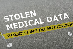 Stolen Medical Data concept Royalty Free Stock Image