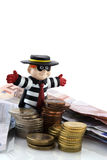 Stolen money Stock Images
