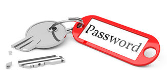 Stolen password Stock Image