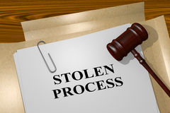 Stolen Process - legal concept Royalty Free Stock Photos