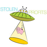 Stolen Profits Cartoon Stock Photo