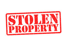 STOLEN PROPERTY. Rubber Stamp over a white background stock illustration