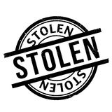 Stolen rubber stamp Stock Photography
