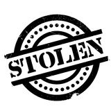 Stolen rubber stamp Royalty Free Stock Image