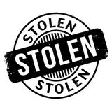 Stolen rubber stamp. Grunge design with dust scratches. Effects can be easily removed for a clean, crisp look. Color is easily changed stock illustration