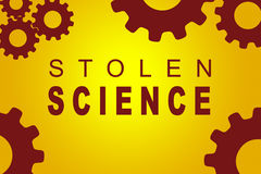 Stolen Science concept Royalty Free Stock Image