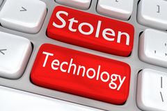 Stolen Technology concept Royalty Free Stock Images