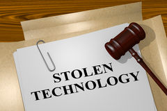 Stolen Technology - legal concept Royalty Free Stock Image