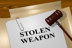 Stolen Weapon - legal concept Royalty Free Stock Photo