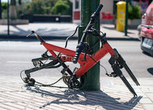 Stolen wheels. Royalty Free Stock Photos