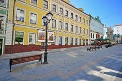 Stoleshnikov het winkelen straat, Moskou Stock Afbeelding