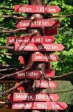 Stolica dystansowy waypost Zdjęcie Royalty Free