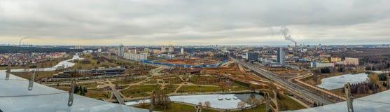 Stolica Wysokiego kąta panorama Fotografia Royalty Free