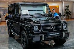 Stolichnoe Auto toont 2013 in Kiev stock afbeelding