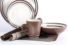 Stolik do kawy ustawiający na białym tle Zdjęcia Royalty Free