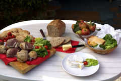 stolik na piknik Fotografia Royalty Free