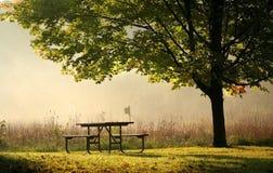 stolik na piknik Zdjęcie Royalty Free