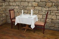 stolik w restauracji Fotografia Royalty Free