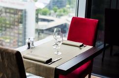 stolik w restauracji Obrazy Stock