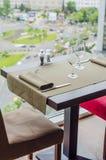 stolik w restauracji Obraz Royalty Free