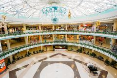 Stolitsa is a major shopping center in Minsk Stock Photography