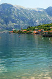 Stoliv, Montenegro. View of a seaside village Stoliv Stock Image