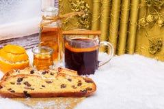 Stolle, θερμαμένο κρασί, Χριστούγεννα Στοκ Εικόνα