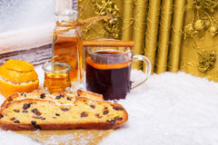 Stolle, mulled wine, Christmas Stock Image