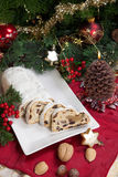 Stollen for Christmas Royalty Free Stock Photos