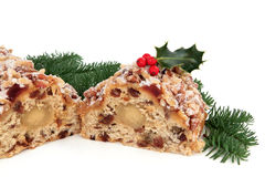 Stollen Christmas Cake Stock Photography