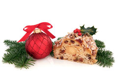 Stollen Christmas Cake Royalty Free Stock Photography