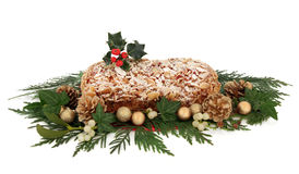 Stollen Christmas Cake Stock Photos