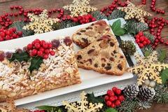 Stollen Christmas Cake Royalty Free Stock Photos