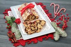 Stollen Christmas Cake stock image