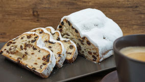 Stollen and coffee Stock Photo