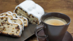 Stollen and coffee Stock Image