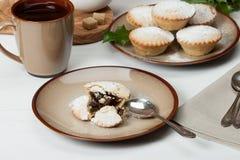 Stollen De traditionele Pastei van de Kerstmismarsepein Royalty-vrije Stock Fotografie