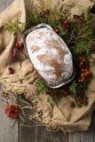 Stollen-Frucht, Weihnachten stollen Stockfotografie