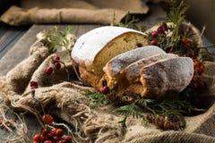 Stollen-Frucht, Weihnachten stollen Lizenzfreies Stockfoto