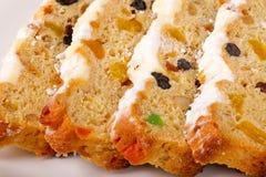Stollen - gâteaux traditionnels allemands de Noël Images stock