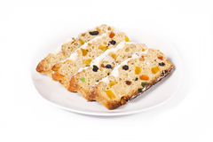 Stollen - German traditional Christmas cakes Stock Images