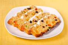 Stollen - German traditional Christmas cakes Royalty Free Stock Image