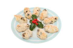 Stollen and holly Royalty Free Stock Photo