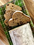 Stollen loaf royalty free stock image