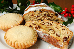 Stollen and mince pie's.