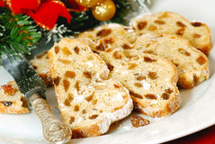 Stollen sliced sweet Royalty Free Stock Image