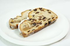 Stollen, Spotted Dick, Fruit Cake, Food stock image